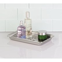 InterDesign Bathroom Vanity Countertop Guest Towel and Organizer Tray Br... - €19,15 EUR