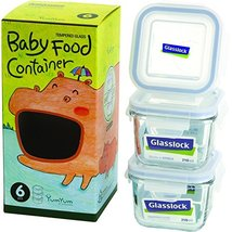 Food Storage Container Glasslock 6Piece Square Baby Box Set Mini of 1 Ki... - £20.77 GBP