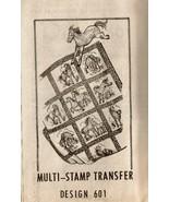 MULTI-STAMP TRANSFER HORSES QUILT PATTERN - $12.00