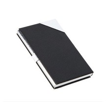 Stainless Steel Business Card Case Holder PU Leather Box AH3