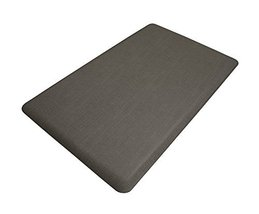 NewLife by GelPro Designer Comfort Mat 18 30Inch Grasscloth Charcoal 18X30 - $36.43