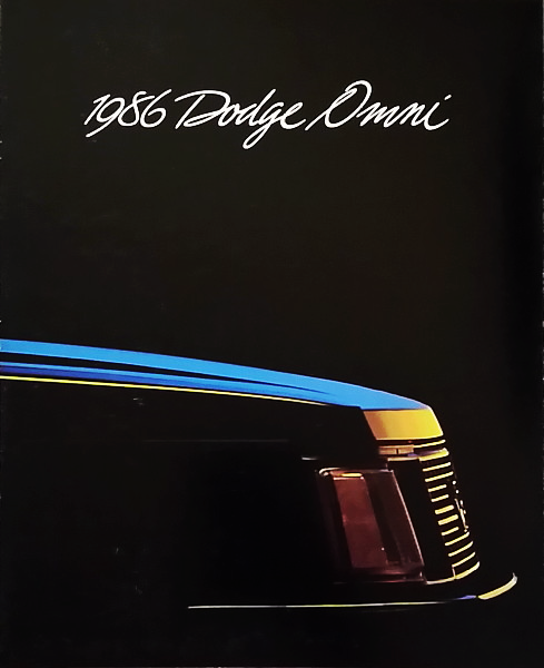 Primary image for 1986 Dodge OMNI sales brochure catalog US 86 SE GLH Shelby