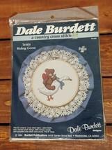 Teddy Riding Goose Country Cross Stitch Kit Vintage 1985 Dale Burdett NIB CK102 - $10.99