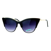 Metal Top Accent Cateye Sunglasses Womens Designer Fashion Shades - $10.95