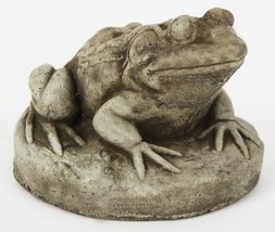 Frog on Rock Concrete Statue - $39.00