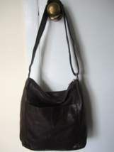 "Rolfs Soft Brown Leather Cross Body ALSO is a Shoulder Bag ~ Adjusts 20""... - $40.00"
