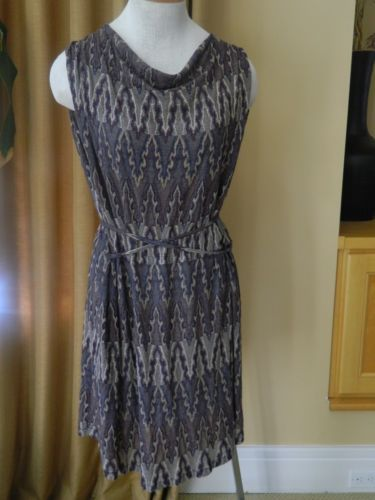 Isabel Marant Dress Ikat Print Knit Sleeveless Self Belt 3 NEW