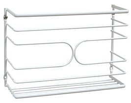 Bath DecoBros Wall Door Mount Kitchen Wrap Organizer Rack White Deco Bro... - $18.26