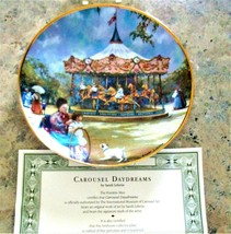 Collectible Carousel Plates w/ Coa The Franklin Mint Carousel Daydreams - $19.80