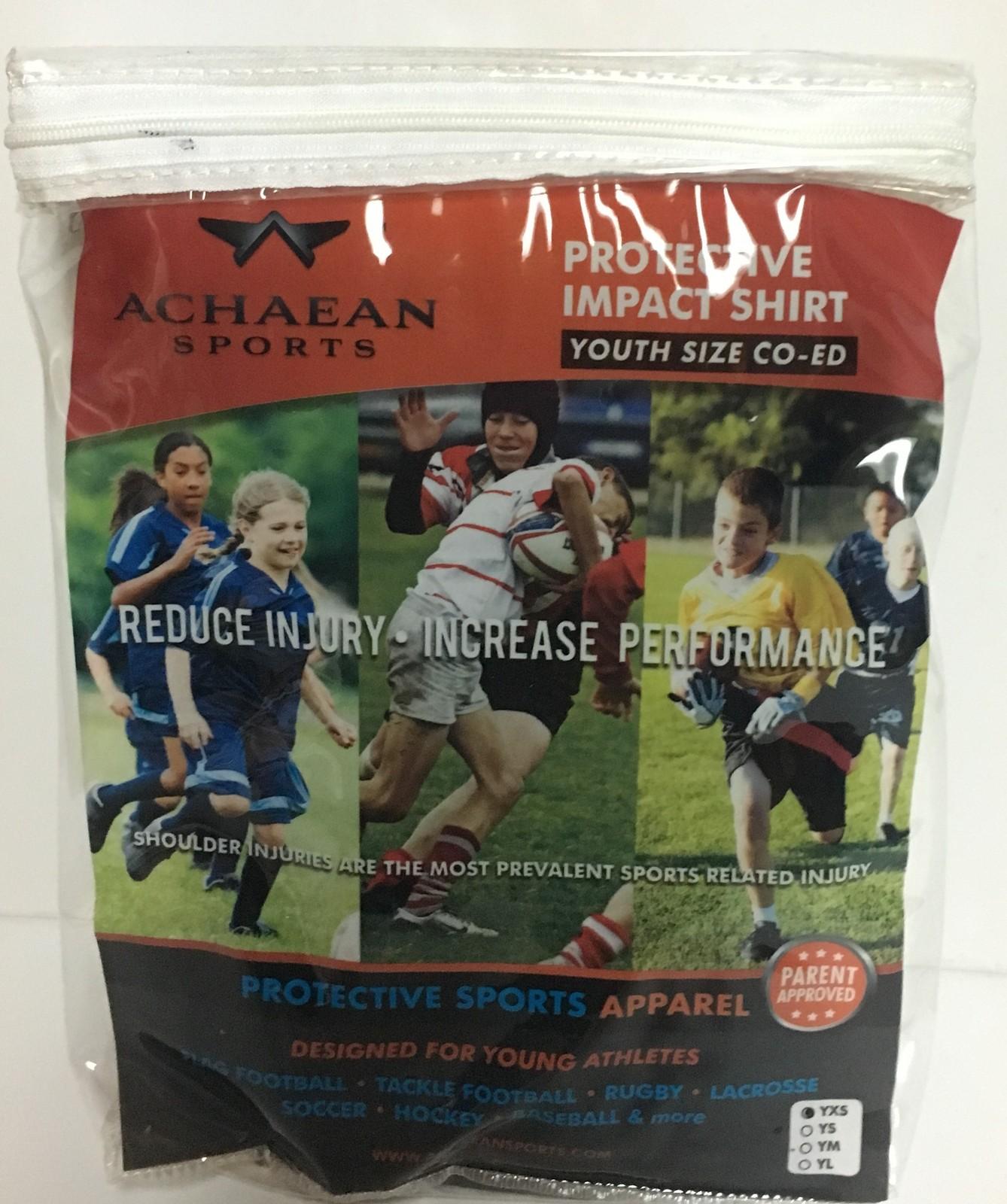Achaean Sports Protective Impact Shirt Youth Sizes Boys & Girls Black image 4