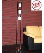 Contemporary Pillar Floor Lamp Modern Light Chr... - $73.97
