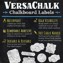 Craft 72 Round Chalkboard Mason Jar Lid Canning Labels for Food Storage ... - $20.81