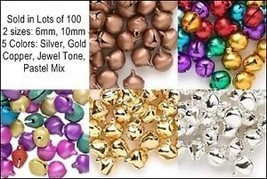 Wholesale LOT 1000 JINGLE BELLS~Mix Colors~Beads Charms - $29.41