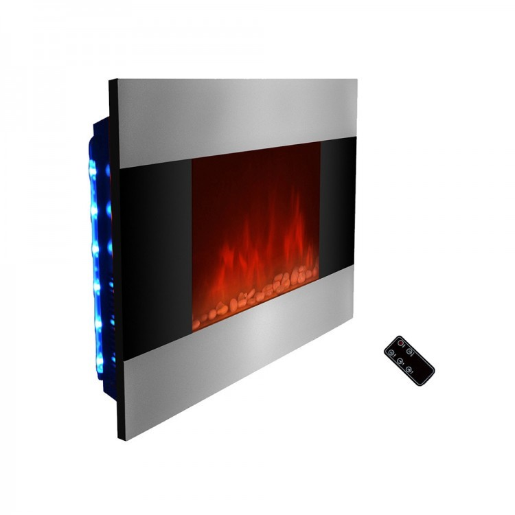 modern electric fireplace built in wall indoor heater flames fireplaces. Black Bedroom Furniture Sets. Home Design Ideas