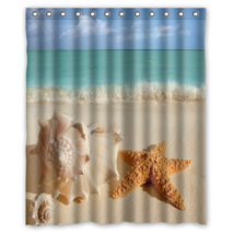 Starfish On The Beach #04 Shower Curtain Waterproof Made From Polyester - $31.26+