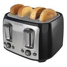 BLACK+DECKER TR1478BD 4-Slice Toaster, Black - $58.79 CAD