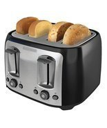 BLACK+DECKER TR1478BD 4-Slice Toaster, Black - £32.69 GBP