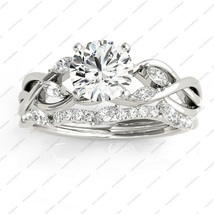 Marquise Vine Leaf Bridal Set In White Gold Plated Pure 925 Sterling Silver - $96.99