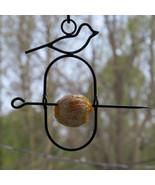 ORIOLE ORANGE FEEDER - Amish Hand Forged Wrought Iron Bird Perch USA HAN... - $21.53