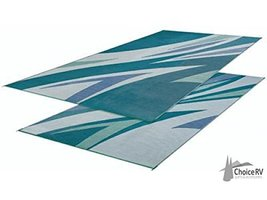 Faulkner Summer Waves Mat 8x16 Green 45637 - $66.00