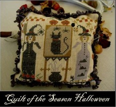 Quilt of the Season Halloween cross stitch chart Nikys Creations  - $12.60