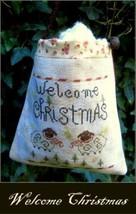 Welcome Christmas bag cross stitch chart Nikys Creations  - $12.60