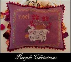 Purple Christmas cross stitch chart Nikys Creations  - $12.60