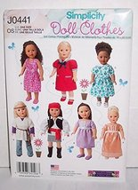 Simplicity J0441, Sewing Pattern for clothes and accessories for 18 inch... - $14.21