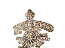 Good Quality Brass Cannon And Crown Decal  Made Like A Gun Bullet Chromed - $9.22