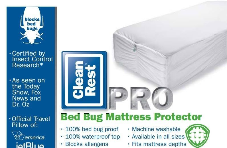 Clean rest pro bed bug proof mattress box spring for Bed bug mattress and box spring cover sets