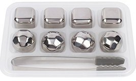 Xummit Whiskey Stones Set of 8 Stainless Steel Ice Cubes Diamonds - $0.00 CAD