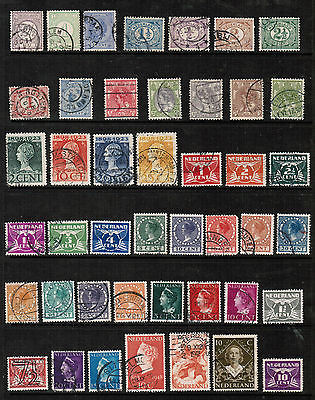 NETHERLANDS  Collection of used stamps DL-196
