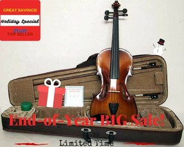 **LIMITED**1/4 VIOLIN OUTFIT+Mystery Gift*Great Gift Package* IN BLACK CASE - $58.54