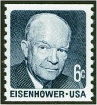 1970 6c Dwight D. Eisenhower, Coil Scott 1401 Mint F/VF NH - $0.99