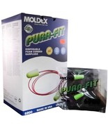 Moldex Pura Fit Earplugs NRR31 w/Cord 100 Pairs/Box Plug Station - MS92215 - $38.51