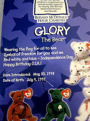 Ronald McDonald House Charities Ty Teenie Beanie Babies Vintage Lot of 5.1997