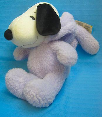 "Peanuts Easter Bunny Snoopy Plush Stuffed Dog Doll Hallmark 10"""