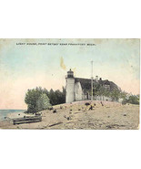 Point Betsey Light House Frankfort Michigan circa 1907 Post Card - $3.00