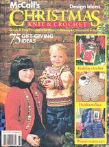 Christmas Knit & Crochet Barbie Ornaments Miniatures  Dogcoat Afghan Hat Mccall  - $12.98