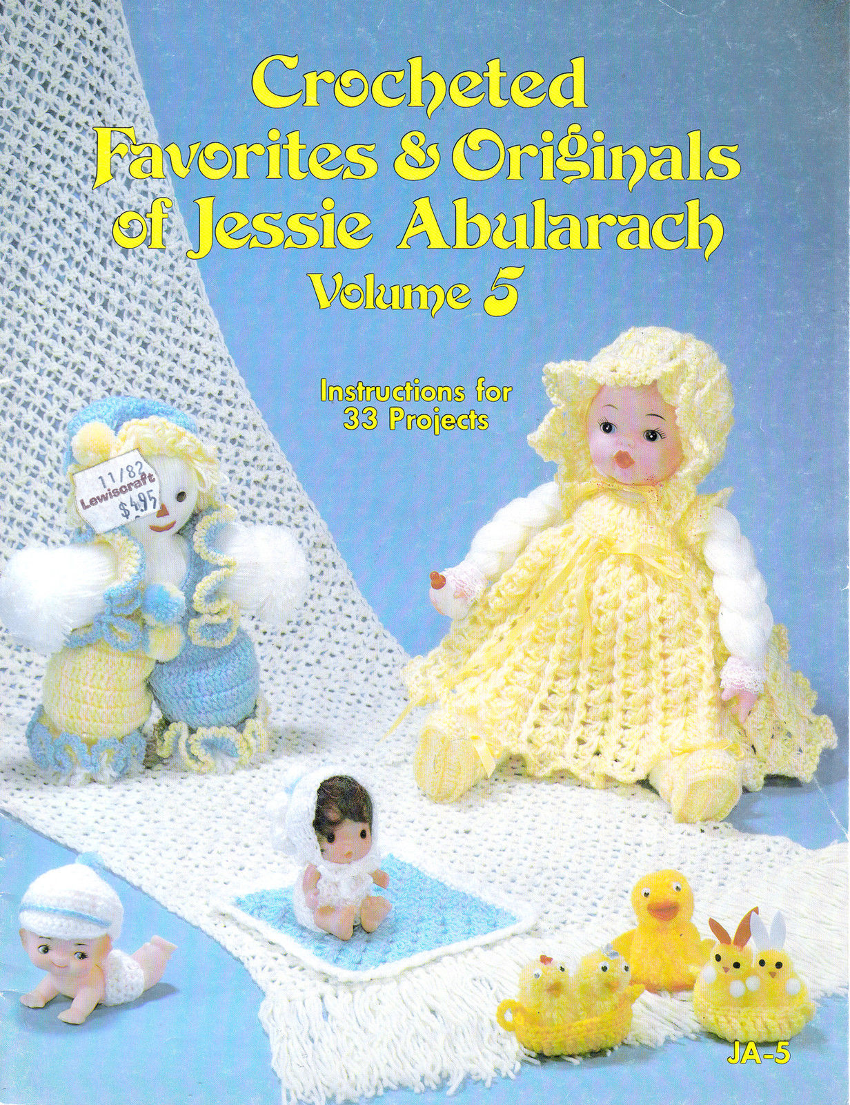 Primary image for CROCHETED 33 PROJECTS *DOLLS 1982 FAVORITES & ORIGINAL JESSIE ABULARACH *VOL 5