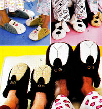SLIPPERS 4 KIDS & ADULTS CAT, BEARS & DOG OOP MCCALL'S 3471 PATTERN MINT... - $12.98