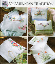 Embroidery Pillows Scarf Pouch+ & Transfers Mccall's 4544 Oop Pattern Mint Uncut - $14.98