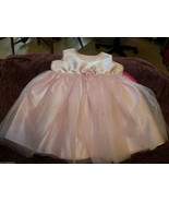 Disney Light  Pink Dress w/Rose Size 12 Months Girls NEW LAST ONE HTF - $39.99