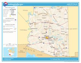 Arizona State Reference Laminated Wall Map - $74.25