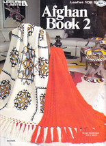 AFGHAN BOOK 2 LEISURE ARTS #102 WITH 16 DIFFERENT PATTERN DESIGNS EAGLE ... - $9.98