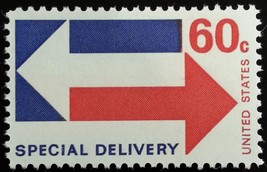 1971 60c Arrows, Special Delivery Scott E23 Mint F/VF NH - $1.64