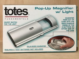 """Totes Pop-Up Lighted Magnifier  - 2.5/8"""" X 4.5""""X 3/4"""" Lighted - $15.84"""