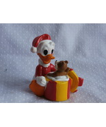 PVC Disney Christmas Donald Duck w/ Chipmunk Figure Made by Applause  - $4.99