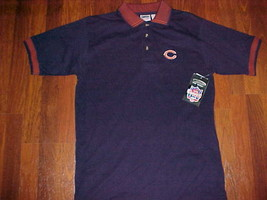 The Edge NFL NFC Central 2000 Chicago Bears Men's Navy Blue Polo Shirt M... - $39.59