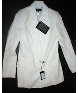 NWT New Womens 6 8 Designer Patrizia Pepe White Blazer Jacket 42 Italy W... - $695.00